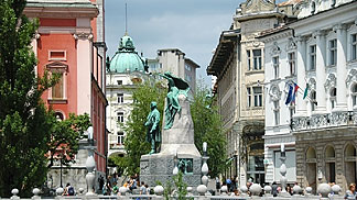 Downtown Ljubljana